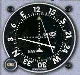 VOR indicating: High on the Glideslope, Left of the Localizer