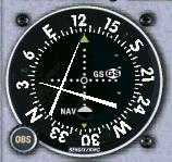 VOR indicating: High on the Glideslope, Right of the Localizer